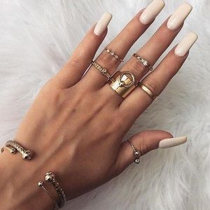 Adjustable Gold Toned Slave Ring